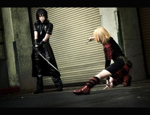 Togainu no Chi's Shiki and Rin cosplay