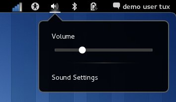 GNOME 3 Volume Menu